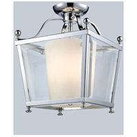 Z-Lite 178-3SF-S Ashbury 3 Light 11 inch Chrome Semi Flush Mount Ceiling Light in 10.88