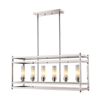 Z-Lite Altadore 6 Light Billiard/Island in Brushed Nickel 182-6