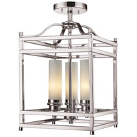 Z-Lite Altadore 3 Light Semi Flush Mount in Brushed Nickel 182SF