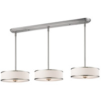 Cameo 9 Light 60 inch Brushed Nickel Island Light Ceiling Light in 15.63