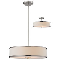 Z-Lite Cameo 3 Light Convertible Pendant in Brushed Nickel 183-20