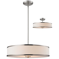 Z-Lite Cameo 3 Light Convertible Pendant in Brushed Nickel 183-24