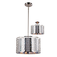 Saatchi 3 Light 15 inch Chrome Pendant Ceiling Light