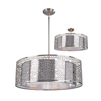 Z-Lite 185-26 Saatchi 8 Light 26 inch Chrome Pendant Ceiling Light