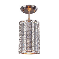 Z-Lite Saatchi 1 Light Pendant in Chrome 185-6SF