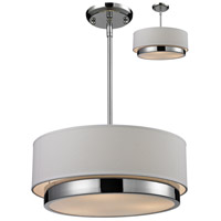 Z-Lite 186-16 Jade 3 Light 16 inch Chrome Pendant Ceiling Light