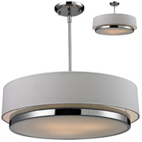 Z-Lite 186-22 Jade 3 Light 22 inch Chrome Pendant Ceiling Light