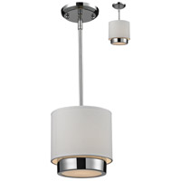 Z-Lite Jade 1 Light Mini Pendant in Chrome 186-8