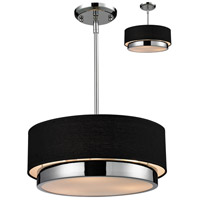Z-Lite 187-16 Jade 3 Light 16 inch Chrome Pendant Ceiling Light