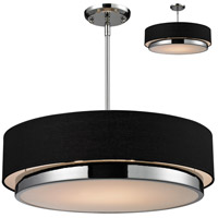 Z-Lite 187-22 Jade 3 Light 22 inch Chrome Pendant Ceiling Light