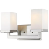 Tidal 2 Light 13 inch Brushed Nickel Vanity Light Wall Light