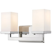 Z-Lite Tidal 2 Light Vanity in Chrome 1901-2V
