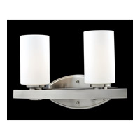Z-Lite Adria 2 Light Vanity in Brushed Nickel 1904-2V