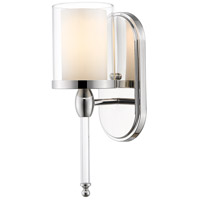 Z-Lite Argenta 1 Light Wall Sconce in Chrome 1908-1S