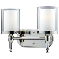 Argenta 2 Light 15 inch Chrome Vanity Light Wall Light