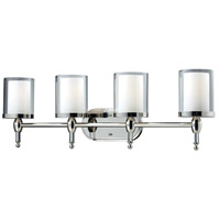 Z-Lite 1908-4V Argenta 4 Light 34 inch Chrome Vanity Wall Light photo thumbnail