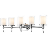 Z-Lite 1908-5V Argenta 5 Light 43 inch Chrome Vanity Light Wall Light in 12.13