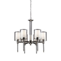 Argenta 6 Light 22 inch Chrome Chandelier Ceiling Light