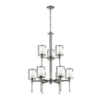 Z-Lite 1908-9 Argenta 9 Light 28 inch Chrome Chandelier Ceiling Light