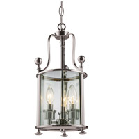 Z-Lite 191-3 Wyndham 3 Light 9 inch Brushed Nickel Pendant Ceiling Light