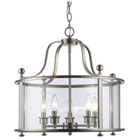Wyndham 5 Light 21 inch Brushed Nickel Pendant Ceiling Light