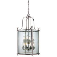 Z-Lite Wyndham 8 Light Pendant in Brushed Nickel 191-8
