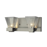 Iluna 2 Light 12 inch Brushed Nickel Vanity Light Wall Light