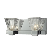 Iluna 2 Light 12 inch Chrome Vanity Light Wall Light