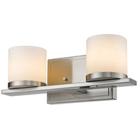 Nori 2 Light 13 inch Brushed Nickel Vanity Light Wall Light