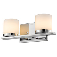 Z-Lite 1912-2V-CH-LED Nori LED 13 inch Chrome Vanity Wall Light in 2