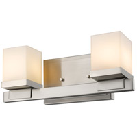 Cadiz 2 Light 13 inch Brushed Nickel Vanity Light Wall Light