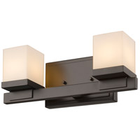 Z-Lite 1913-2V-BRZ-LED Cadiz LED 13 inch Bronze Vanity Wall Light in 2