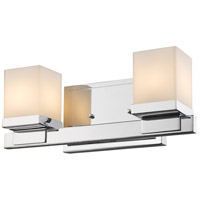 Cadiz 2 Light 13 inch Chrome Vanity Light Wall Light
