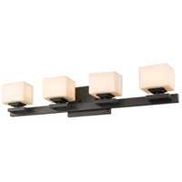 Z-Lite 1914-4V-BRZ Cuvier 4 Light 27 inch Bronze Vanity Wall Light in G9