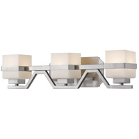 Ascend LED 24 inch Brushed Nickel Vanity Light Wall Light in 3