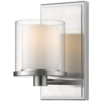 Z-Lite 1918-1S-BN-LED Schema LED 7 inch Brushed nickel Vanity Wall Light in 1