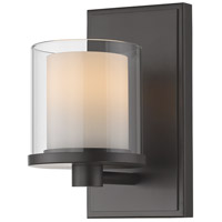 Z-Lite 1918-1S-BRZ-LED Schema LED 7 inch Bronze Vanity Wall Light in 1