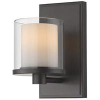Z-Lite 1918-1S-BRZ-LED Schema LED 7 inch Bronze Vanity Wall Light in 1