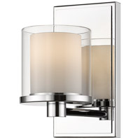 Z-Lite 1918-1S-CH-LED Schema LED 7 inch Chrome Vanity Wall Light in 1