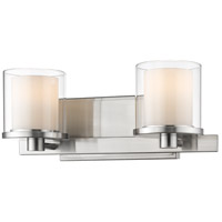 Z-Lite 1918-2V-BN-LED Schema LED 15 inch Brushed Nickel Vanity Wall Light in 2