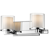 Z-Lite 1918-2V-CH-LED Schema LED 15 inch Chrome Vanity Wall Light in 2