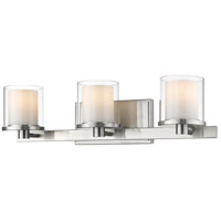 Z-Lite 1918-3V-BN-LED Schema LED 23 inch Brushed Nickel Vanity Wall Light
