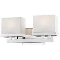 Z-Lite 1919-2V-CH-LED Rivulet LED 14 inch Chrome Vanity Light Wall Light