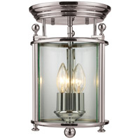 Z-Lite Wyndham 3 Light Semi Flush Mount in Brushed Nickel 191F