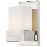 Peak LED 5 inch Brushed Nickel Vanity Light Wall Light