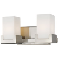 Z-Lite 1920-2V-BN-LED Peak LED 13 inch Brushed Nickel Vanity Light Wall Light