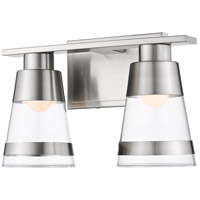 Z-Lite 1921-2V-BN-LED Ethos 2 Light 13 inch Brushed Nickel Vanity Wall Light