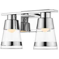 Z-Lite 1921-2V-CH-LED Ethos 2 Light 13 inch Chrome Vanity Wall Light