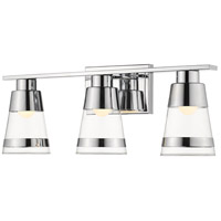 Z-Lite 1921-3V-CH-LED Ethos 3 Light 22 inch Chrome Vanity Wall Light