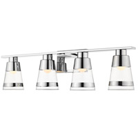 Z-Lite 1921-4V-CH-LED Ethos 4 Light 32 inch Chrome Vanity Wall Light